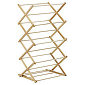 H&L Russel 3 Tier Wooden Concertina Clothes Airer