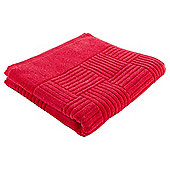 Tesco Red Square Embossed Hand Towel