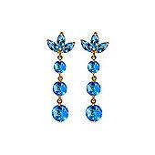 QP Jewellers 8.70ct Blue Topaz Petal Bomb Earrings in 14K Gold