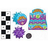 12 Crystal Light Up Bouncy Balls - 3 Asst Colours
