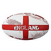 Optimum Nation Rugby Ball - England RWC - White