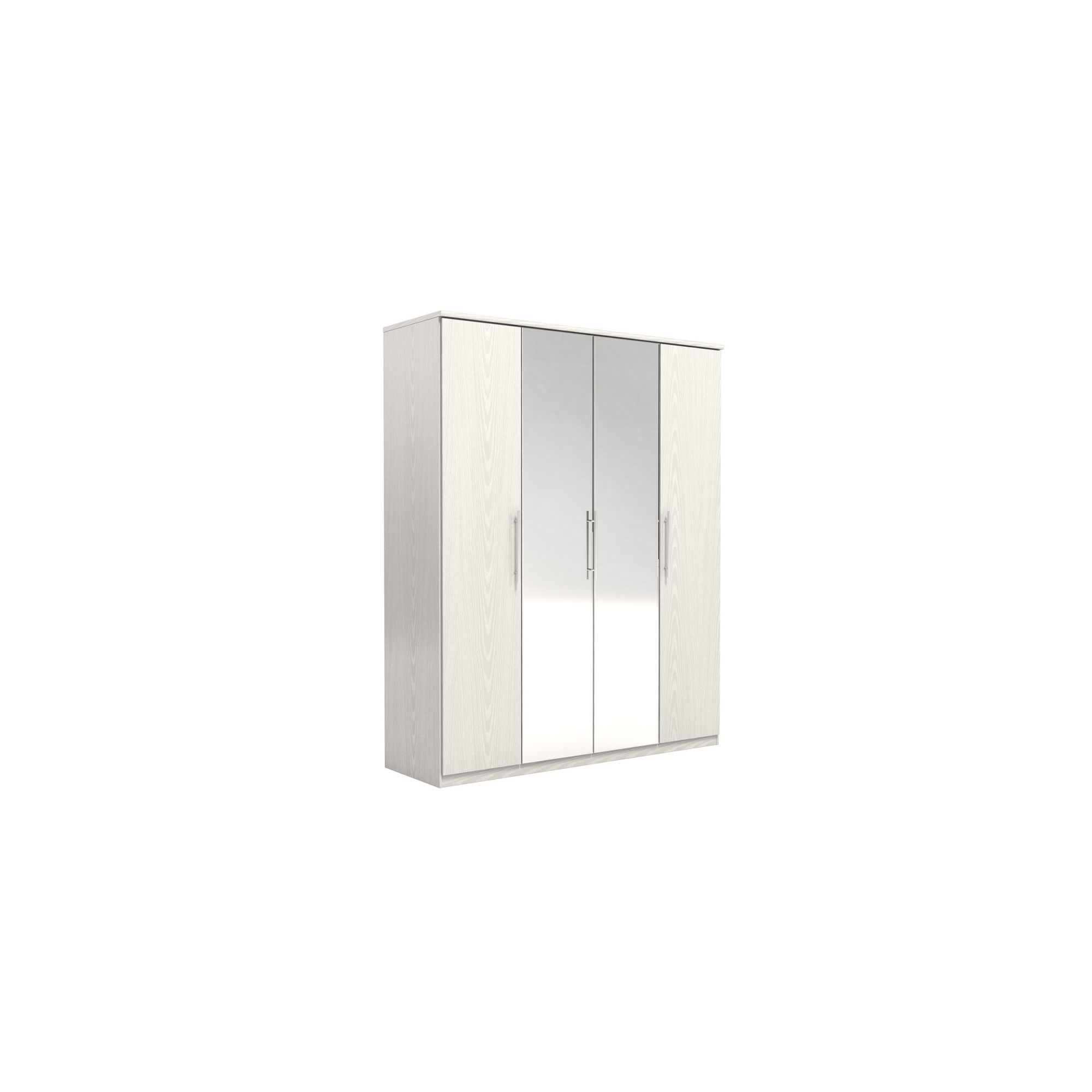 Urbane Designs Prague 4 Door Wardrobe - White at Tesco Direct