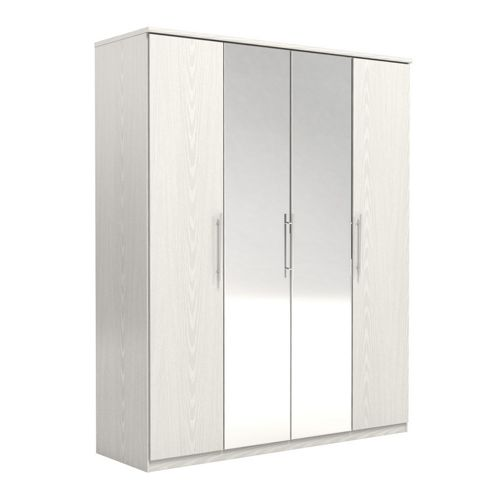 Urbane Designs Prague 4 Door Wardrobe - White