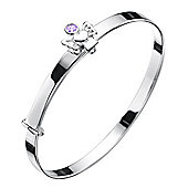 Jo For Girls February Birthstone Guardian Angel Bangle 40-47mm