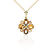 QP Jewellers 14in 0.68mm Rafflesia Necklace with 2.43ct Citrine Pendant in 14K Gold