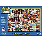 Gibsons puzzle 1960s Shopping Basket 1000 pieces
