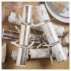Gold Wreath and Tree Christmas Crackers, 12 pack