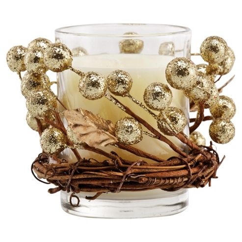 Wreath candle - Gold