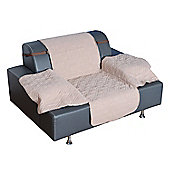PawHut Deluxe Quilted Cat Dog Sofa Cover Couch Slipcover Pet Seat Protector Beige (For Single-Seater)
