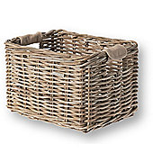 Basil Dorset M Luxury Rattan front basket 35x24x24 Nature Grey