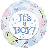 18' Dots and Pins - Its A Boy Foil (each)