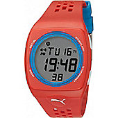 Puma Gents Faas 300 Digital Red Resin Sport Strap Watch PU910991007