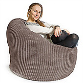 Lounge Pug™ Mini Mammoth Cord Bean Bag - Mink
