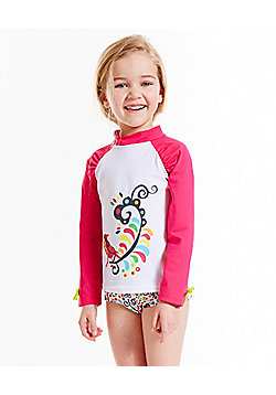 Splash About Girls L'Histoire de Birdy UV Rash Top - Pink