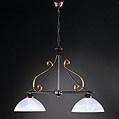 Honsel Lisa 2 Light Kitchen Island Pendant