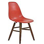 GRW Dining Chair Red WALNUT LEG