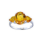 QP Jewellers 3.50ct Citrine Vogue Ring in 14K White Gold