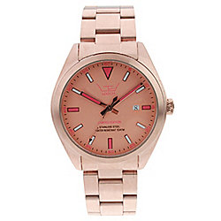 LTD Steel Ex Ladies Rose Gold Stainless Steel Date Watch 280403