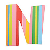 Tatiri TA314 Spots and Stripes Wooden Letter N