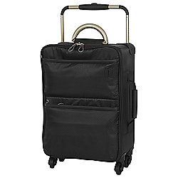 IT Luggage World's Lightest 4-Wheel Suitcase, Black Small
