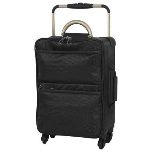 buy it luggage world 39 s lightest 4 wheel suitcase black. Black Bedroom Furniture Sets. Home Design Ideas
