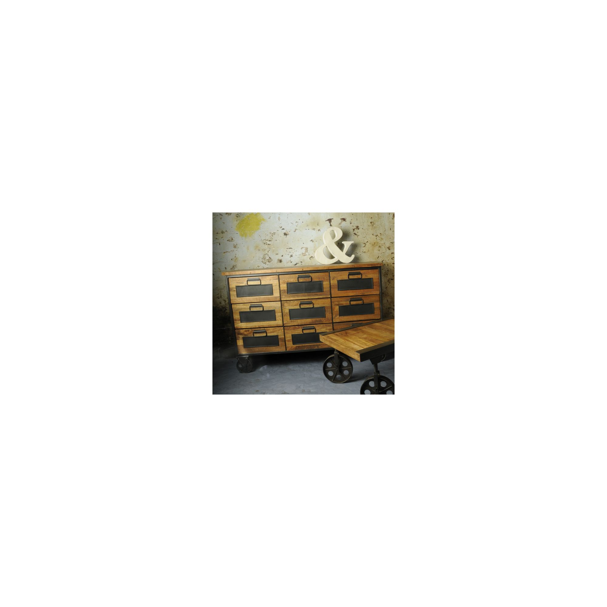 Oceans Apart Industrial Living Nine Drawers Apothecary Chest at Tesco Direct