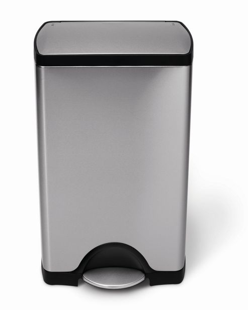 simplehuman 38 Litres Classic Rectangular Pedal Bin in Brushed Stainless Steel