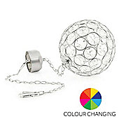 Aria Hanging Crystal Ball - Colour Changing