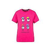 Great British Weather Kids Childrens Boys Girls Short Sleeve T-Shirt Tee Shirt - Pink