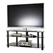Alphason Sona, 3 Shelf Black Tv Stand For Tv'S Up To 50