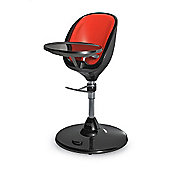 Brother Max Scoop Black Highchair + Seat Insert (Red)