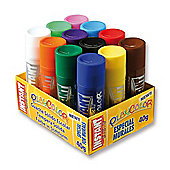 Playcolor Basic Mural 40g Solid Poster Paint Stick (Pack of 12 - Assorted Colours)