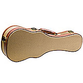 Rocket Soprano Ukulele Deluxe Case - Gold Tweed