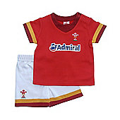 Wales WRU Rugby T-Shirt & Shorts Set - 2016/17 Season - Red