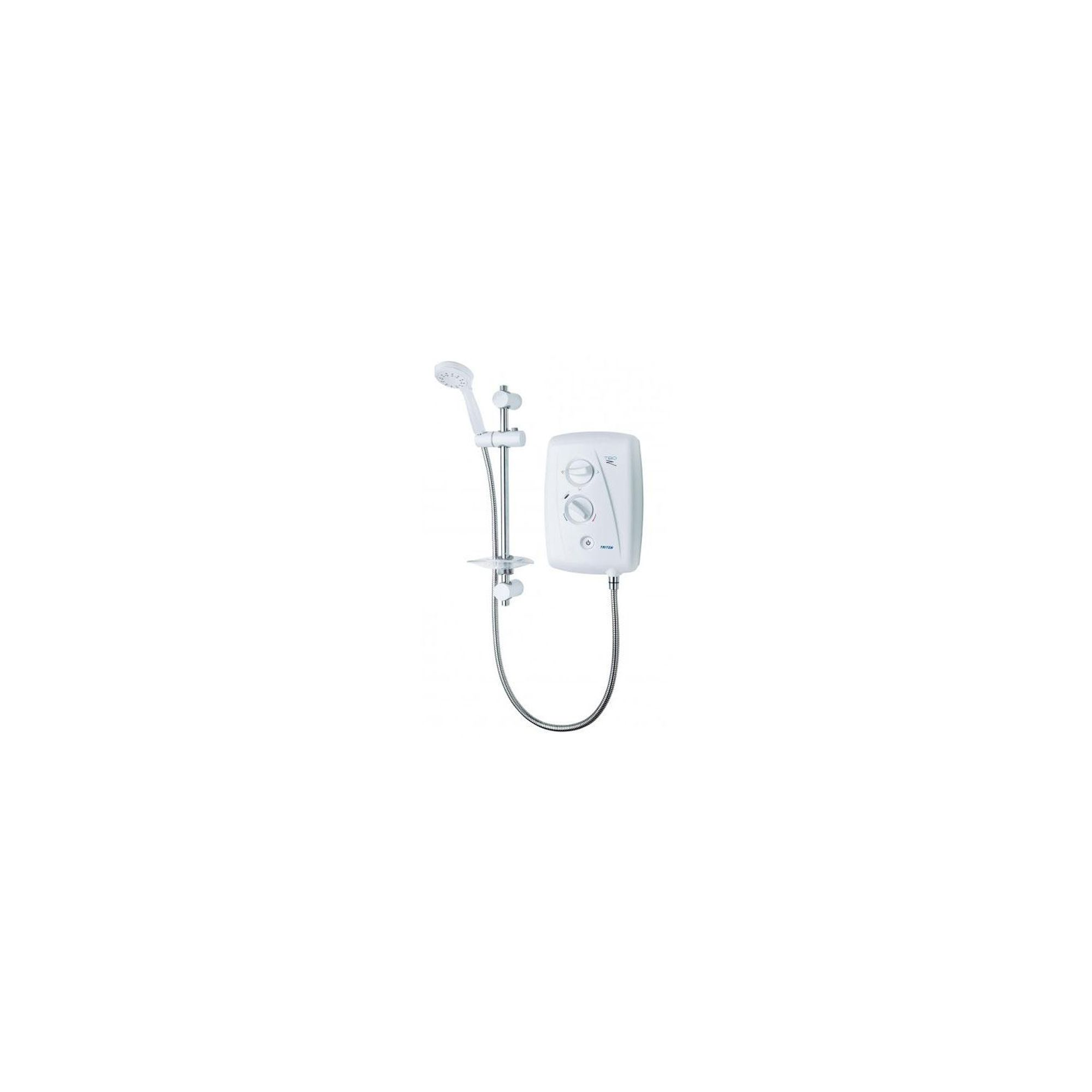 Triton T80Z Fast-Fit Electric Shower White/Chrome 8.5 kW at Tesco Direct