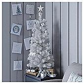 3ft White Pre Lit Christmas Tree (20 white LEDs)