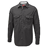 Craghoppers Mens Nosilife Insect Repellent Long Sleeve Shirt - Grey