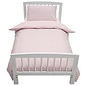 Baroo Cot Bed Duvet Cover & Pillowcase Set (Pink Gingham)