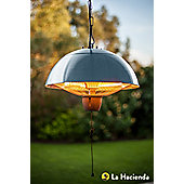 LA HACIENDA HANGING HALOGEN PATIO HEATER STAINLESS STEEL