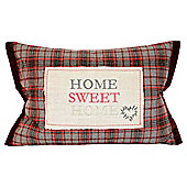 Tartan Home Sweet Home Cushion