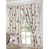 Mia Pencil Pleat Curtains 168 x 137cm - Red