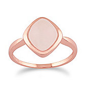 Gemondo Rose Quartz 'Tweedia' Pastel Ring in 9ct Rose Gold Plated Sterling Silver