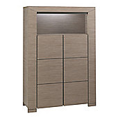 Gami Hanna 6 Drawer Tall Chest and Strip Light Set