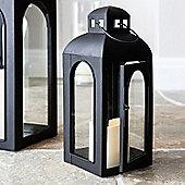 Regular Black Furnace Battery LED Candle Lantern