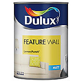 Dulux Feature Wall Matt Emulsion Paint, Lemon Punch, 1.25L