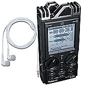 Roland R-26 6 Channel Portable Digital Recorder With Stereo Mics - Includes Free Boss BA-CP15 Earphones Worth £40.00