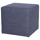 Stanza Fabric Cube / Foot Stool, Indigo