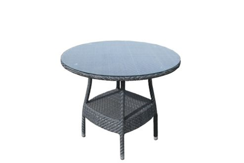 Bridgman Windsor Glass Round Dining Table - Bronze