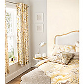 Catherine Lansfield Home designer collection Gold Flora Curtains