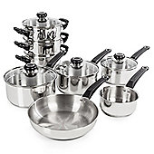 Morphy Richards 8 Piece Saucepan and Frying Pan Set, Stainless Steel
